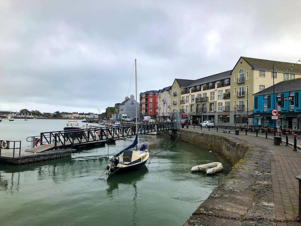 Dungarvan harbour in Ireland