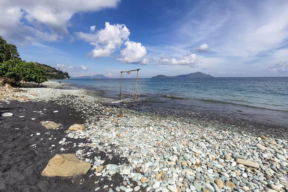 Blue Stone Beach near Ende on East Nusa Tenggara, Indonesia.