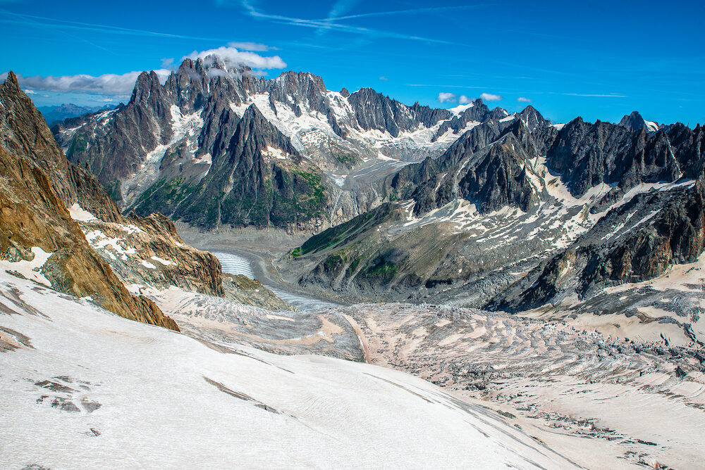 Trekking around the Mont Blanc in Aosta Valley, Courmayeur