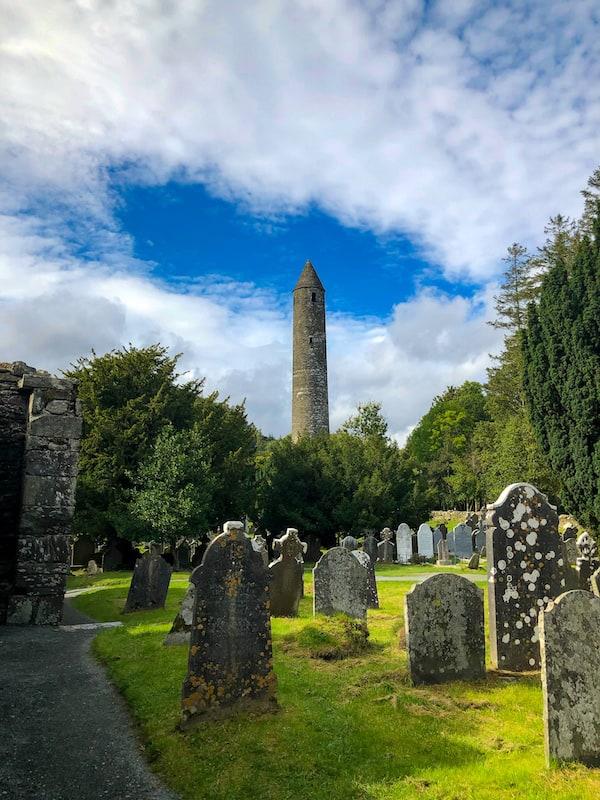 Glendalough Round tower in Ireland