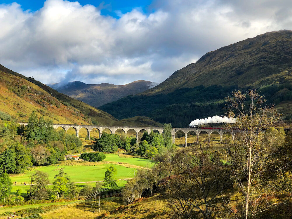 Hogwarts on Glenfinnan Viaduct in Scotland