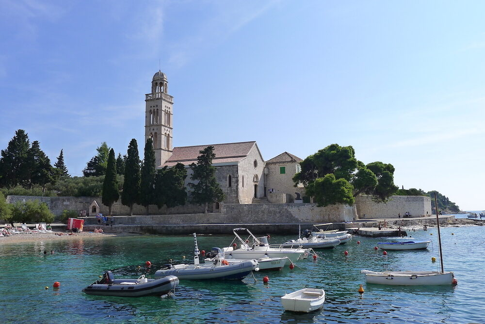 Hvar - The Church in the historic center of the town of Hvar, the island of Hvar, Croatia, Europe