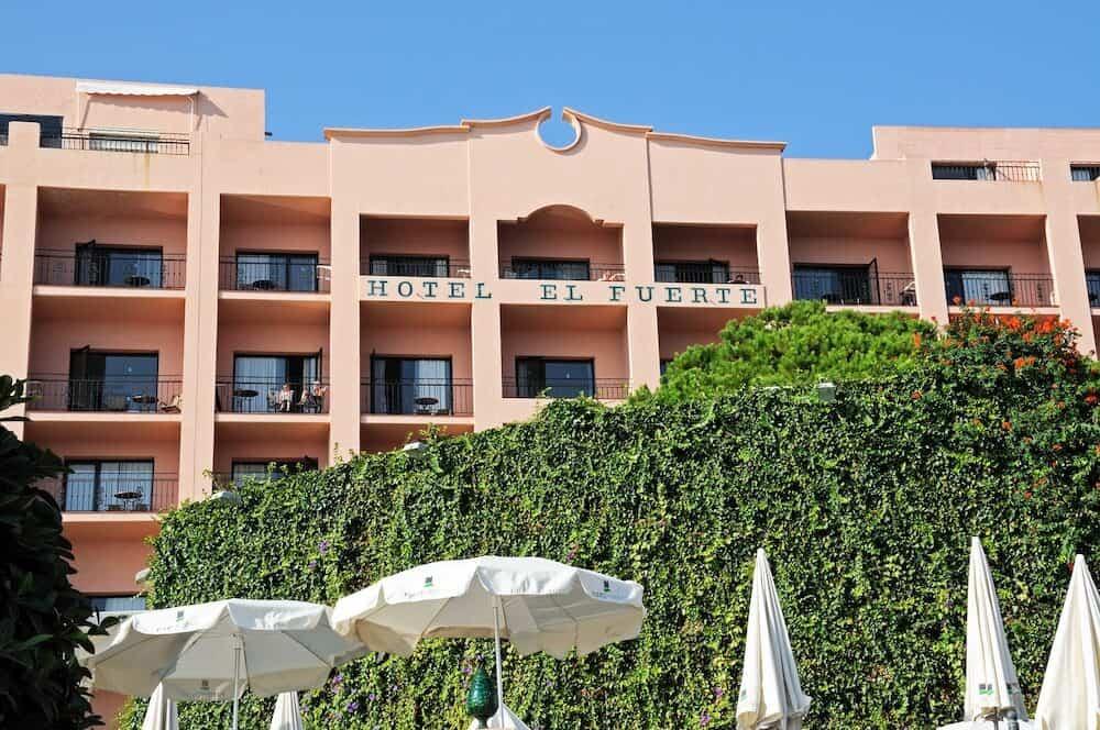 MARBELLA, SPAIN - Hotel El Fuerte along the seafront Marbella Costa del Sol Malaga Province Andalucia Spain Western Europe