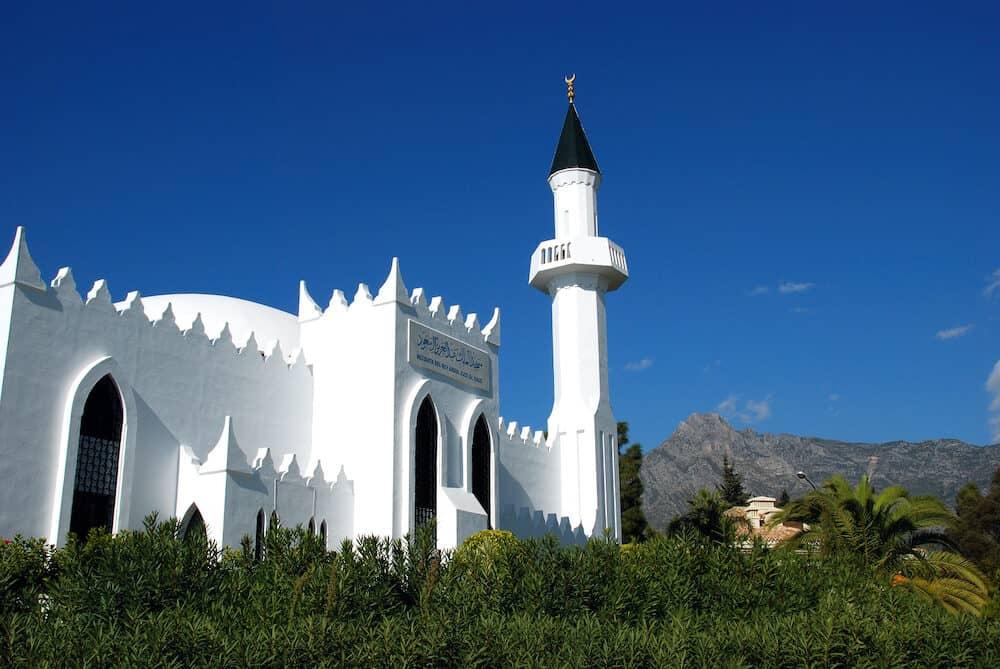View of the King Abdul Aziz Al Saud Mosque (Mezquita del Rey Abdul Aziz Al Saud), Marbella, Costa del Sol, Malaga Province, Andalucia, Spain, Europe