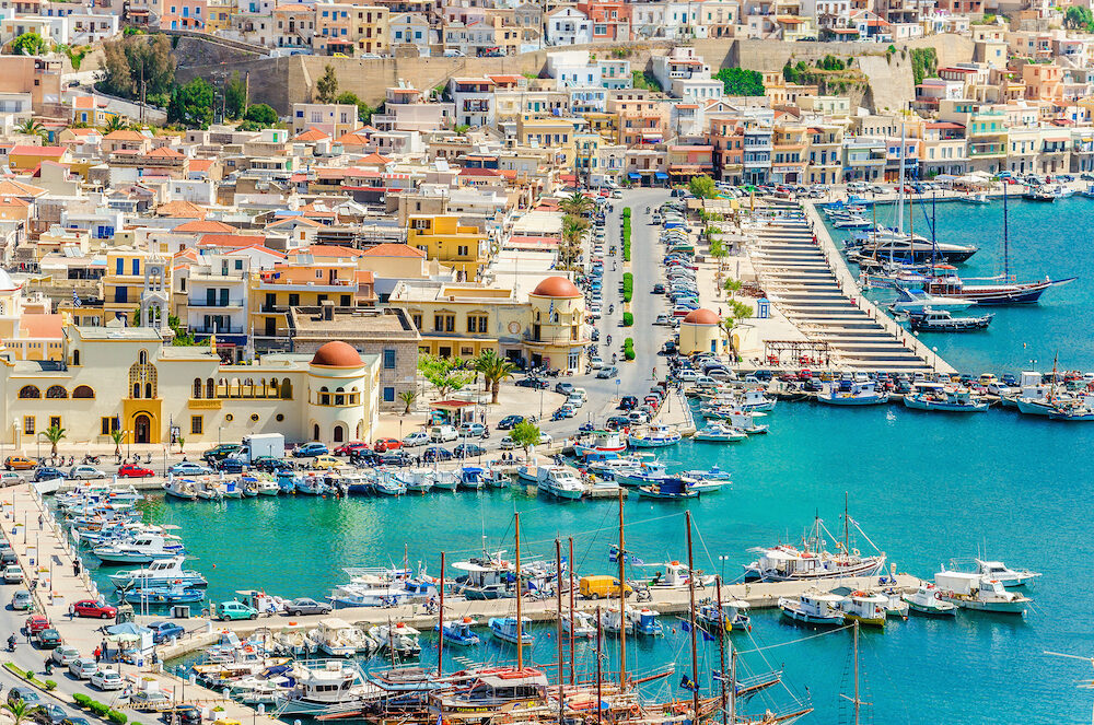 Port of Pothia on Kalymnos island, Greece