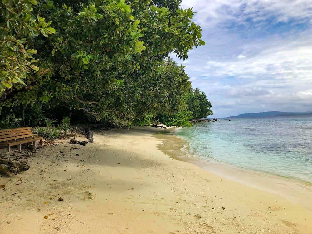 Njari Island beach near Gizo in the Solomon Islands
