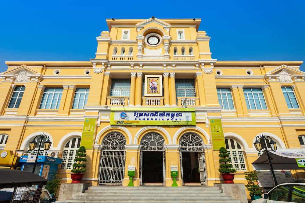 PHNOM PENH, CAMBODIA Cambodia Post Office main building in Phnom Penh city in Cambodia