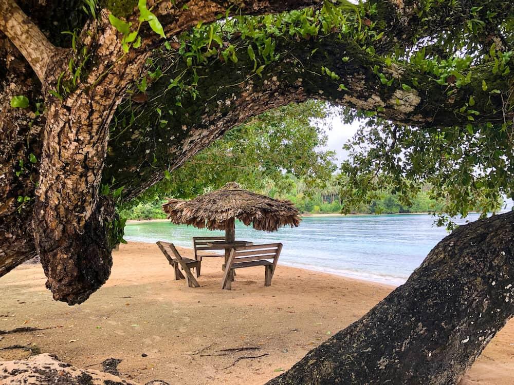 Saeraghi Beach near Gizo in the Solomon Islands