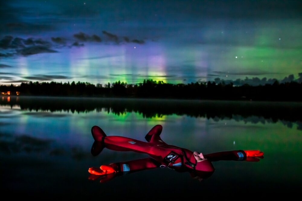 The Auroras Floating
