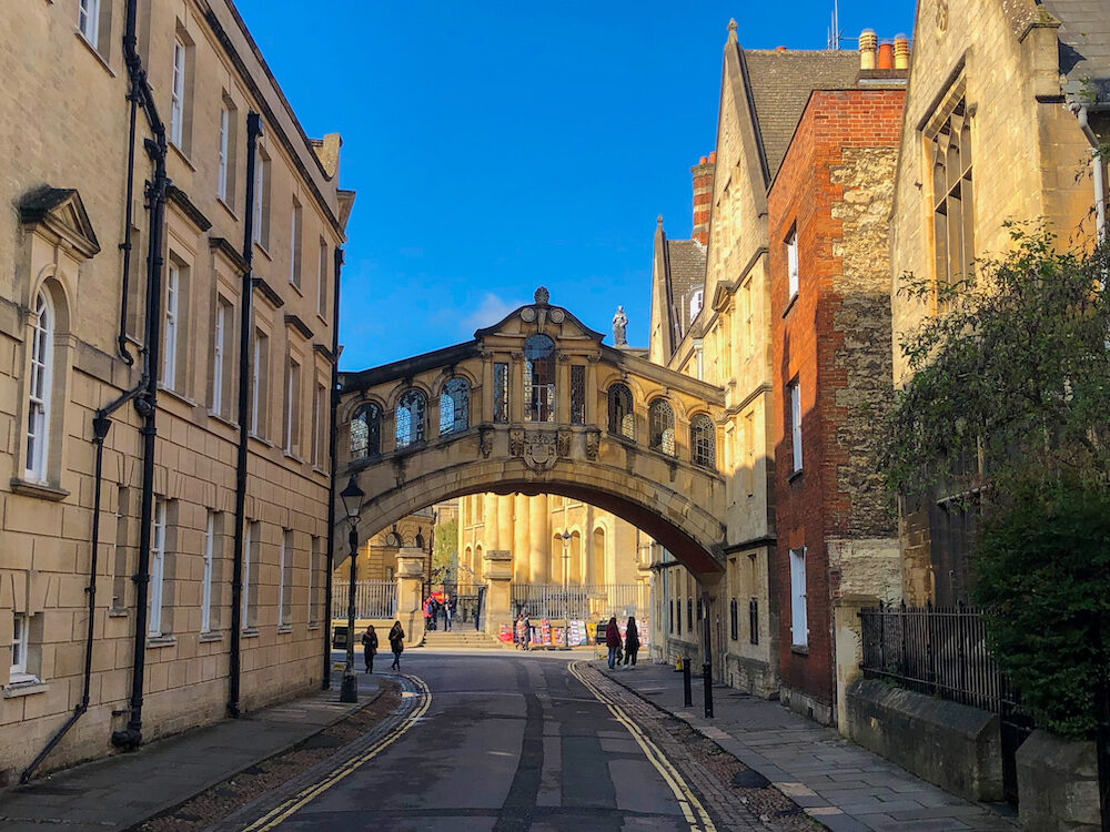 "The distinctive design of the Hertford Bridge, often referred to as Oxford's "" Bridge of Sighs"""