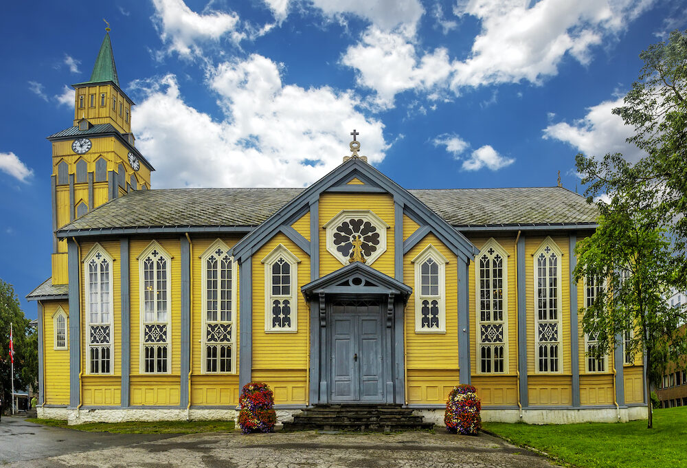 Tromso Cathedral (Norwegian: Tromso domkirke) is a cathedral in the city of Tromso in Troms county Norway. Founded 1252 completed 1861.