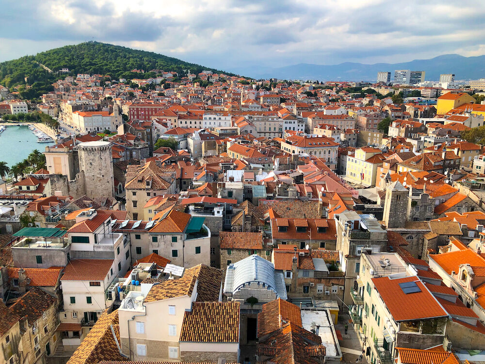Views of Split Croatia from the Bell Tower