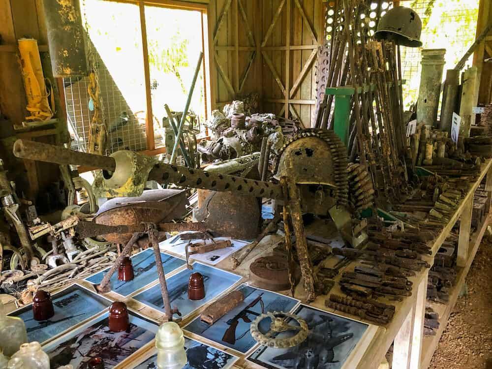WWII War reclics from Peter Joseph WWII Museum in the Solomon Islands