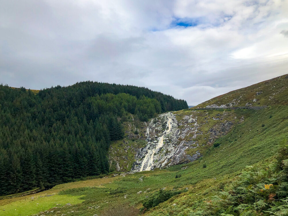 Waterfall in Wicklow Mountains Ireland