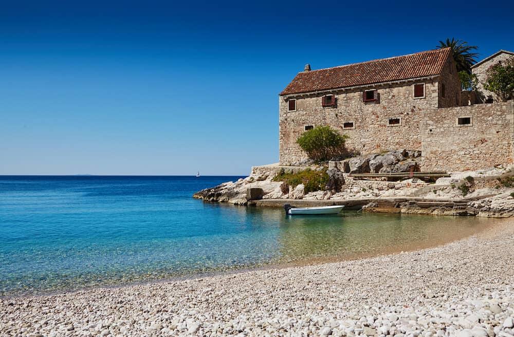 Harbor in the Adriatic Sea on Hvar Croatia