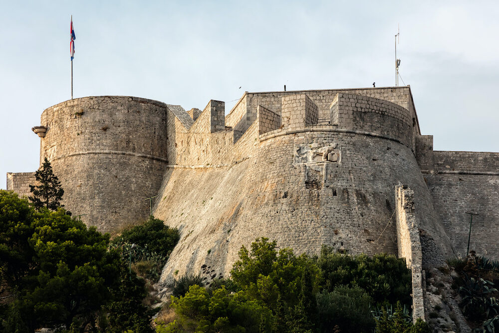 The Fortica fortress, a.k.a. Spanish Fort on the Hvar island in Croatia, constructed following the gunpowder explosion in 1579 which devastated the old fortress.