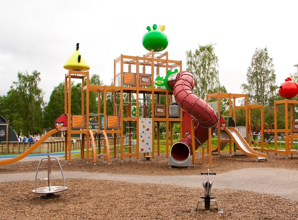 Rovaniemi Finland - : Angry Birds outdoor playground.