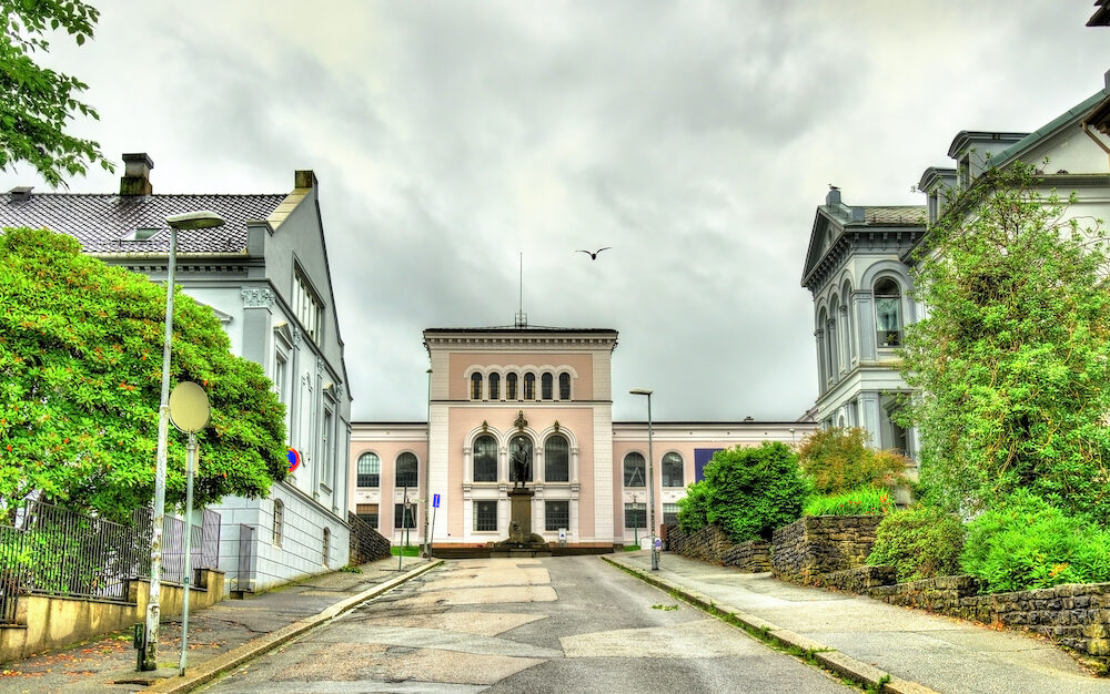 View of the Bergen University Museum in Norway