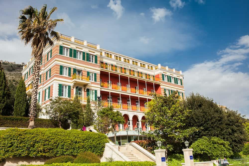 DUBROVNIK, CROATIA - Hilton Grand Hotel Imperial Dubrovnik in a beautiful spring day