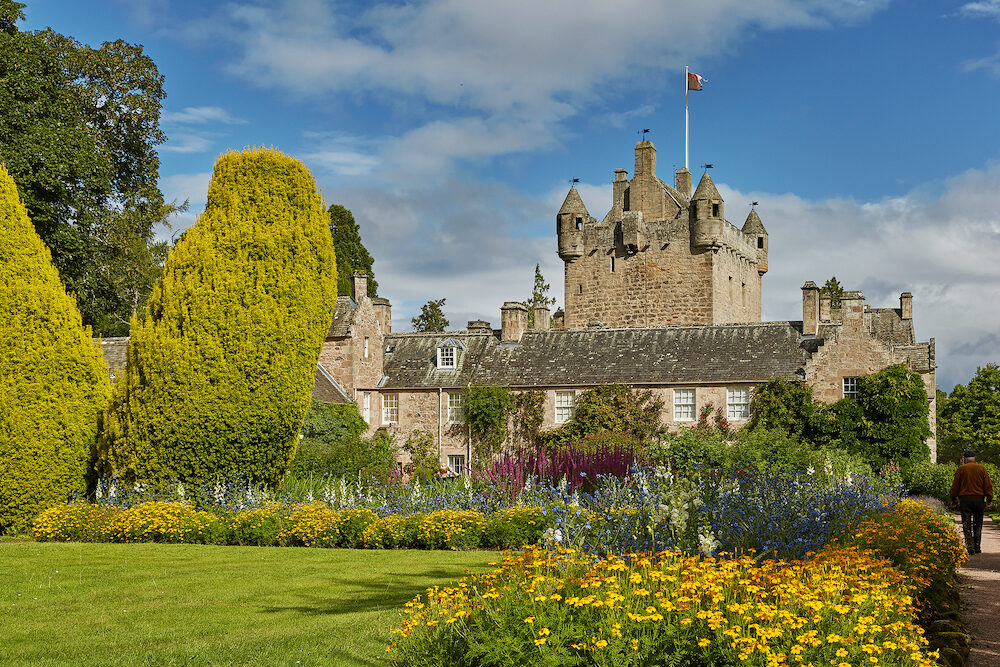 Cawdor Castle surrounded by its beautiful gardens near Inverness, Scotland