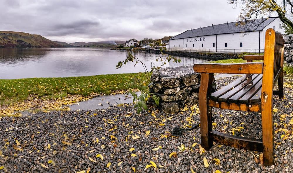 Isle of Skye , Scotland - Talisker distillery is an Island single malt Scotch whisky distillery based in Carbost, Scotland on the Isle of Skye