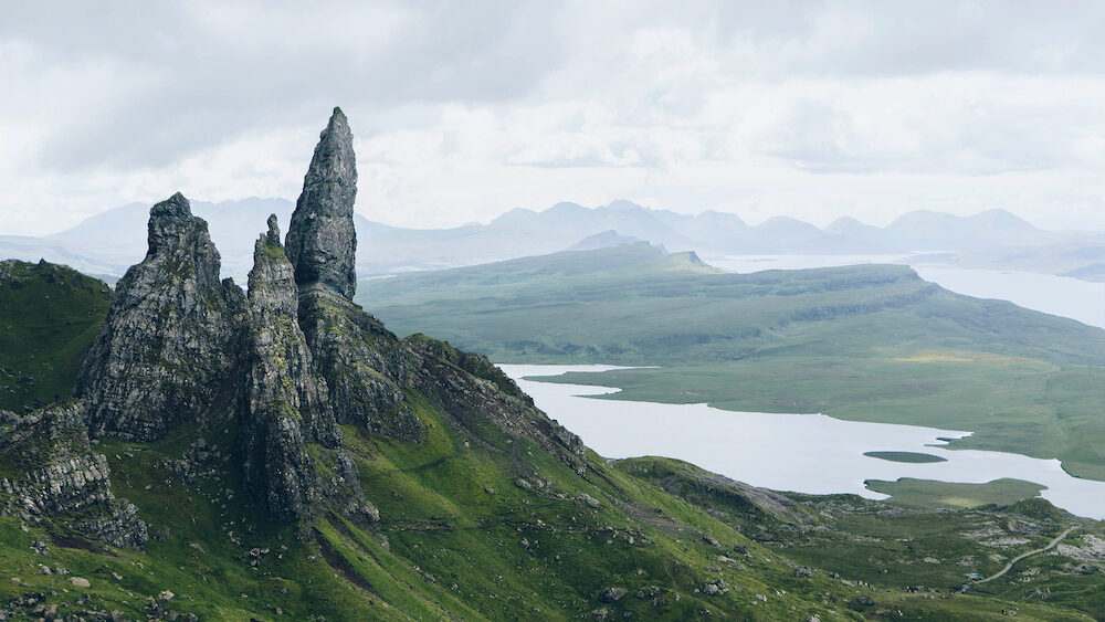 The Storr on the Trotternish peninsula of the Isle of Skye, Scotland