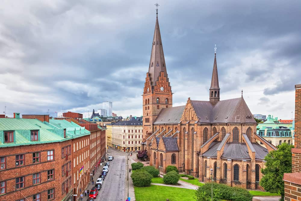 St. Peters Church is an architectural landmark of Malmo Sweden