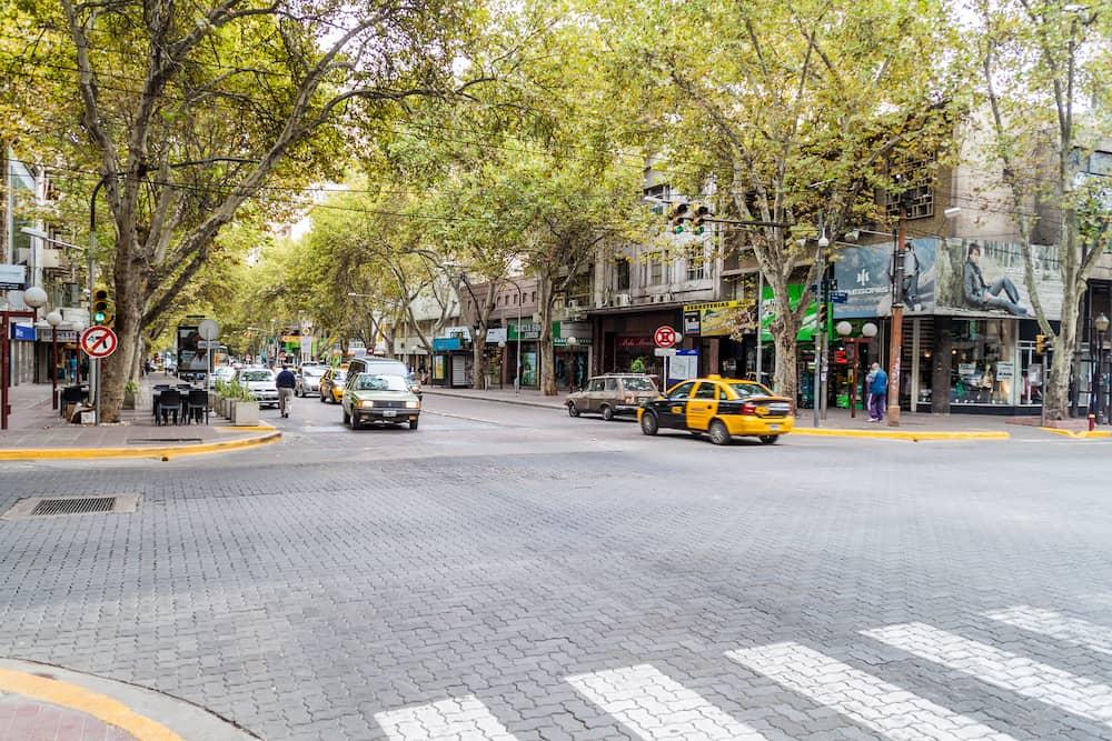 MENDOZA, ARGENTINA Traffic on the street in Mendoza Argentina