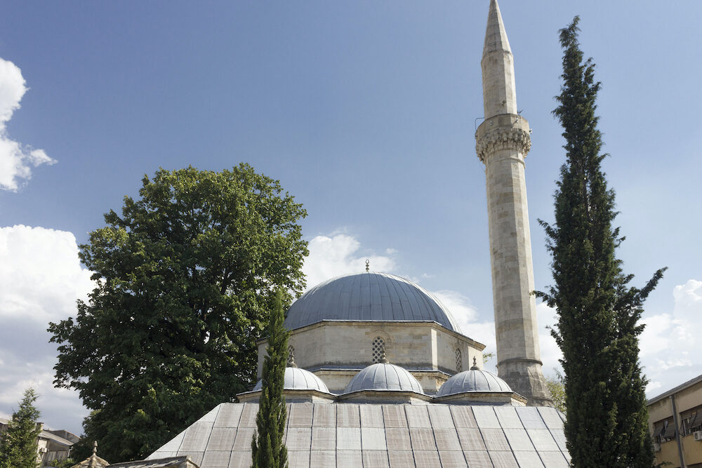 MOSTAR, BOSNIA HERZEGOVINA - Rooftop of Karadoz Beg mosque in Mostar, Bosnia
