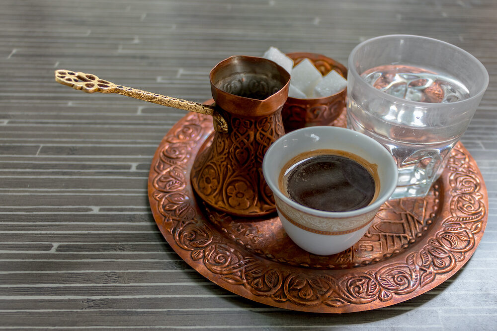 Traditional coffee and old dishes, Bosnian culture, Bosnia