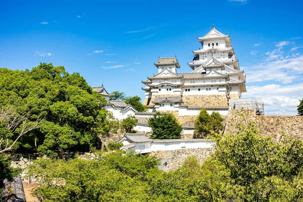 Himeji Castle the Unesco world heritage site in Himeji City Hyogo Japan in Summer