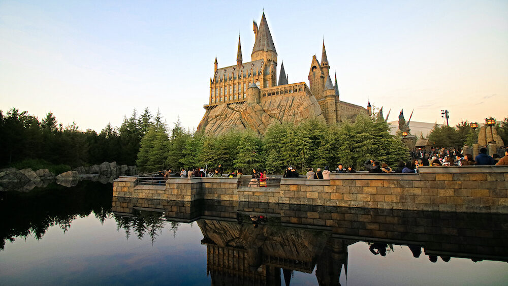 Osaka, Japan - The Wizarding World of Harry Potter in Universal Studios Japan. Universal Studios Japan is a theme park in Osaka, Japan.The phylum of the pig eagle