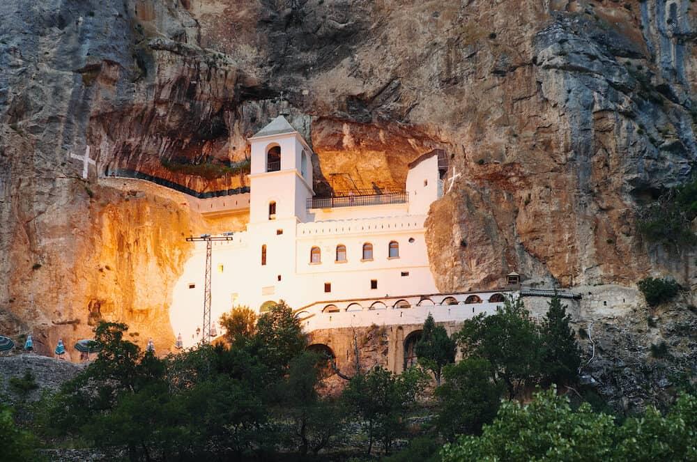 Ostrog Monastery night view, Montenegro