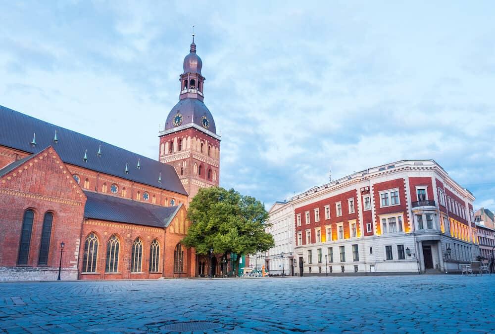RIGA, LATVIA - : St.Peter's Church in Old Town Riga, Latvia
