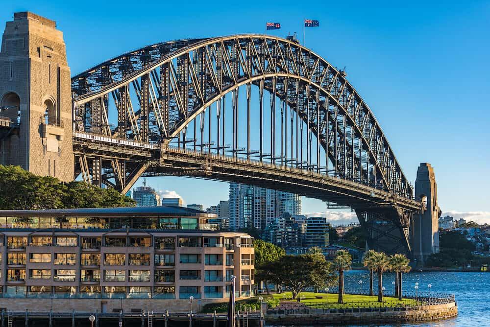 Sydney Harbour Bridge on sunny day. Sydney Australia