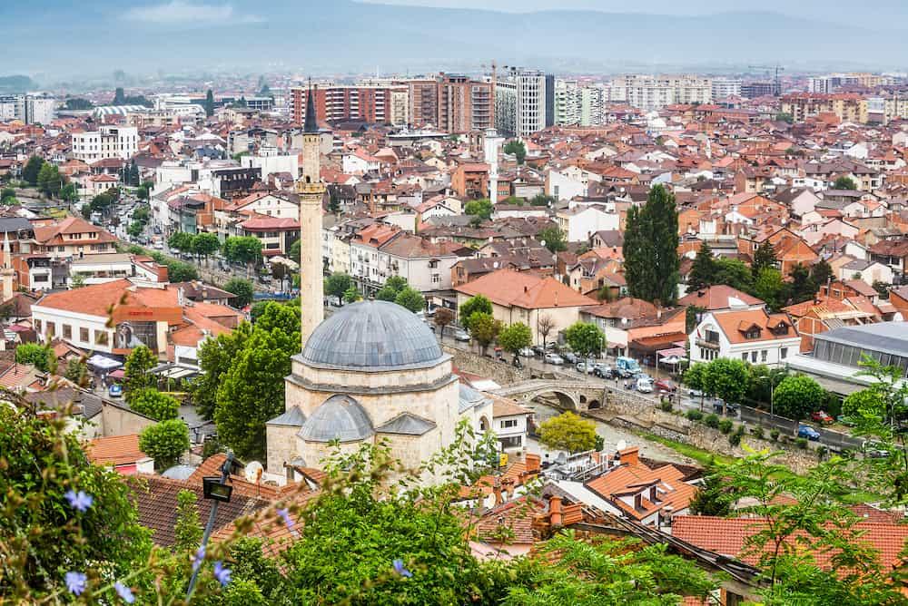 Prizren, Kosovo - Panoramic view on ex-capital