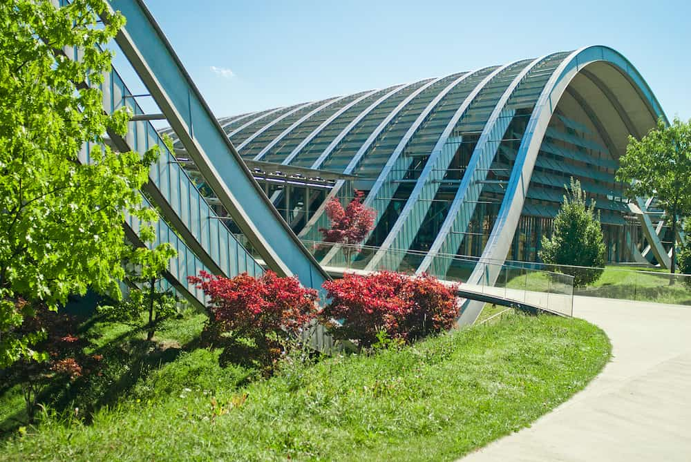 BERN SWITZERLAND - : The Zentrum Paul Klee. This is a museum dedicated to the artist Paul Klee and designed by the Italian architect Renzo Piano.