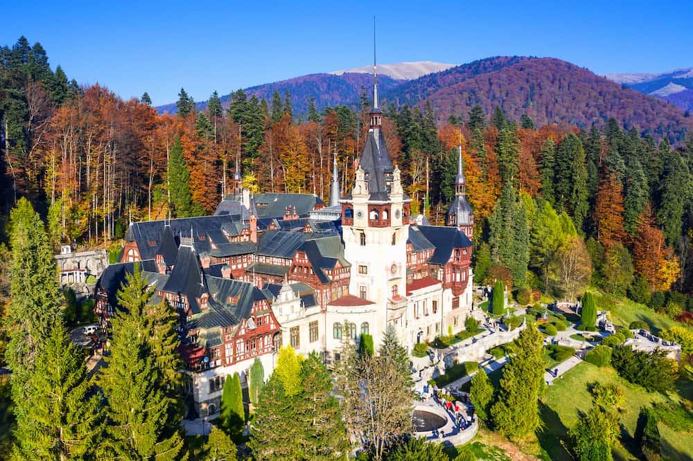 Peles Castle, Romania. Most famous royal castle of Romania in Sinaia, Prahova county.