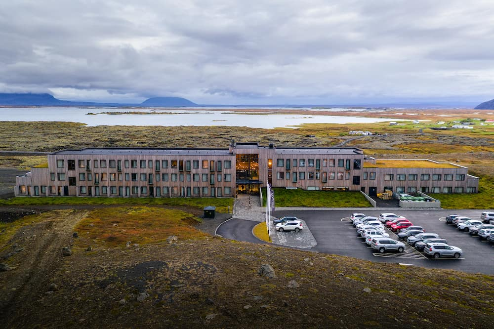 Myvatn, Iceland -: Fosshotel Myvatn with a restaurant, a 4-star hotel in Skutustadahreppur, near a lake on the ring road and surrounded by beautiful Icelandic nature.