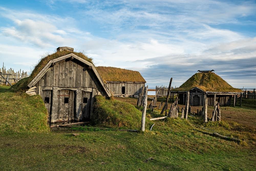 Stokksnes viking village under Vestrahorn mountain, Iceland