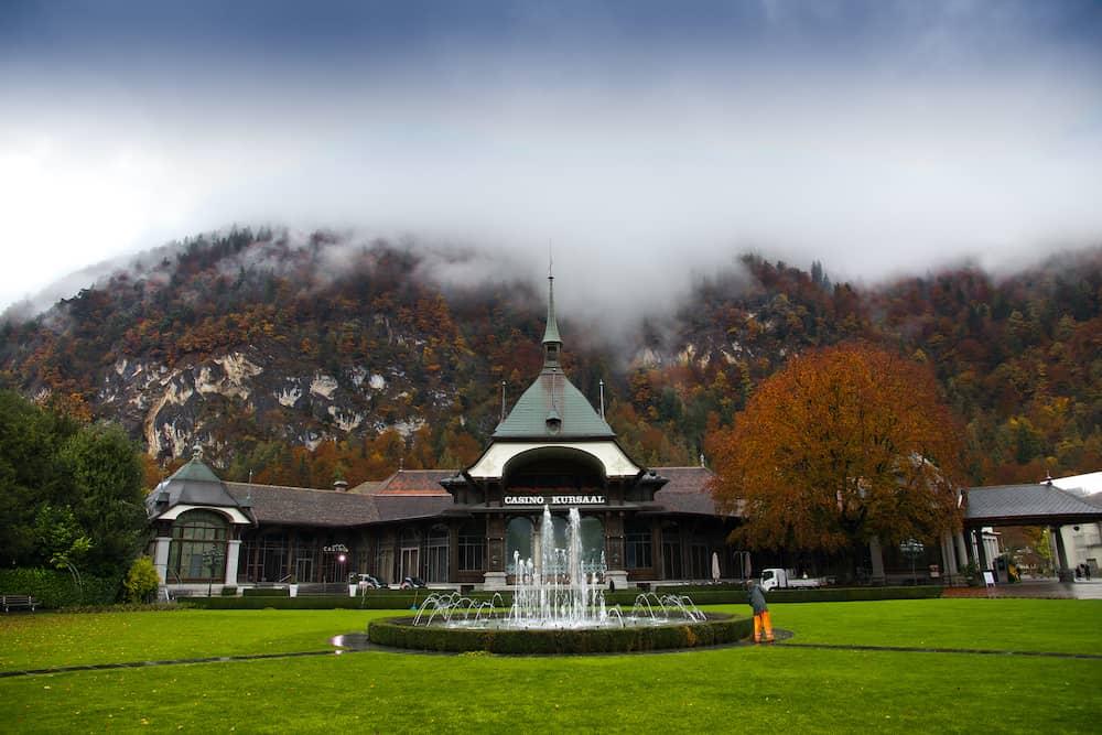 Interlaken, Switzerland - Casino Kursaal in Interlaken, Switzerland