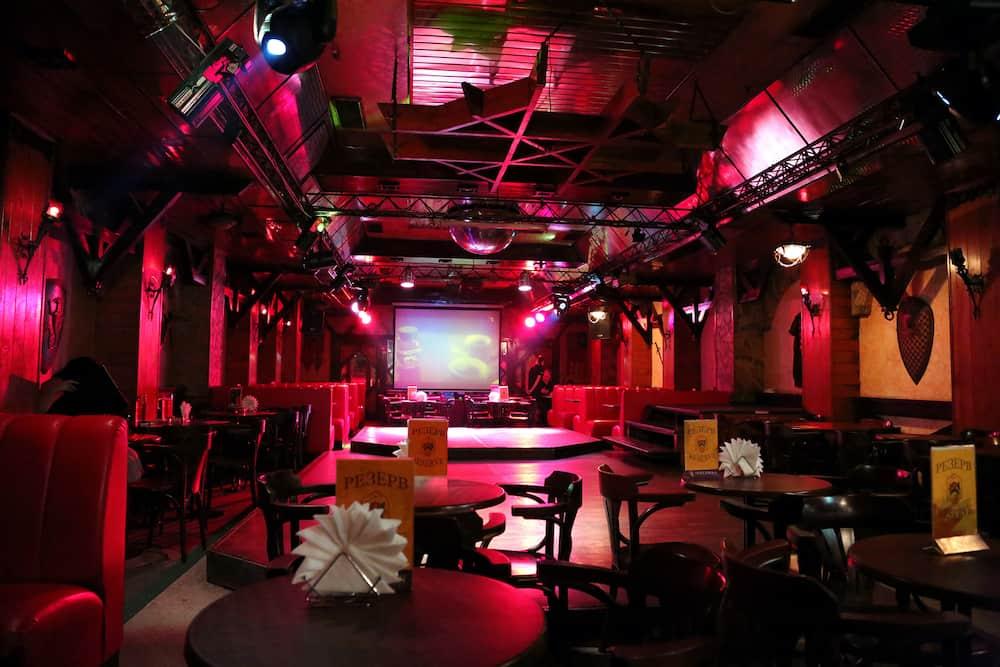 KIEV - Excalibur nightclub in Kiev before competition for the best dance in Kiev Ukraine.