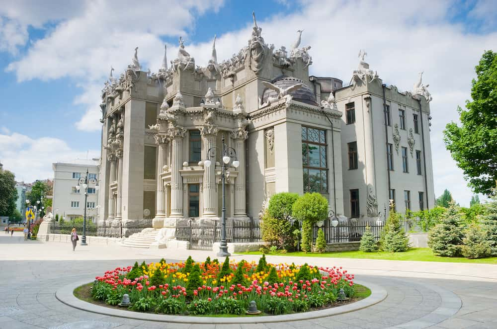 KIEV UKRAINE- House with Chimeras is the most original creation of architect Vladislav Gorodetsky in Kiev