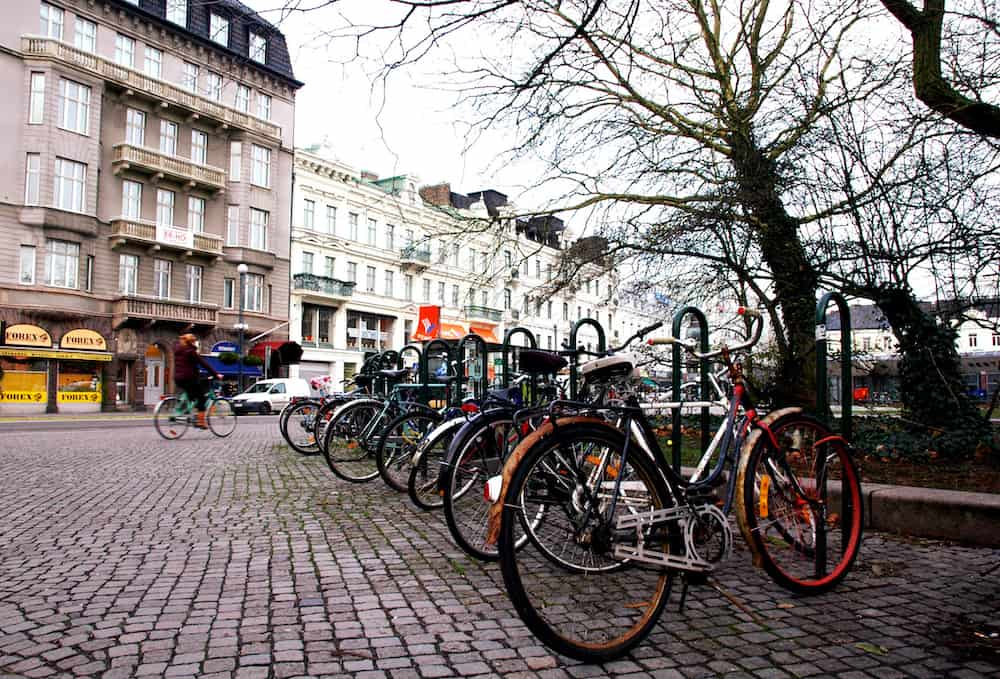 A Scene with bicycles at Malmo Sweden