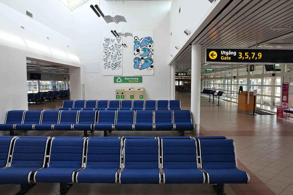 MALMO SWEDEN - Airport interior in Malmo. With 1.6 million passengers for year 2010 it is the 5th busiest airport in Sweden.