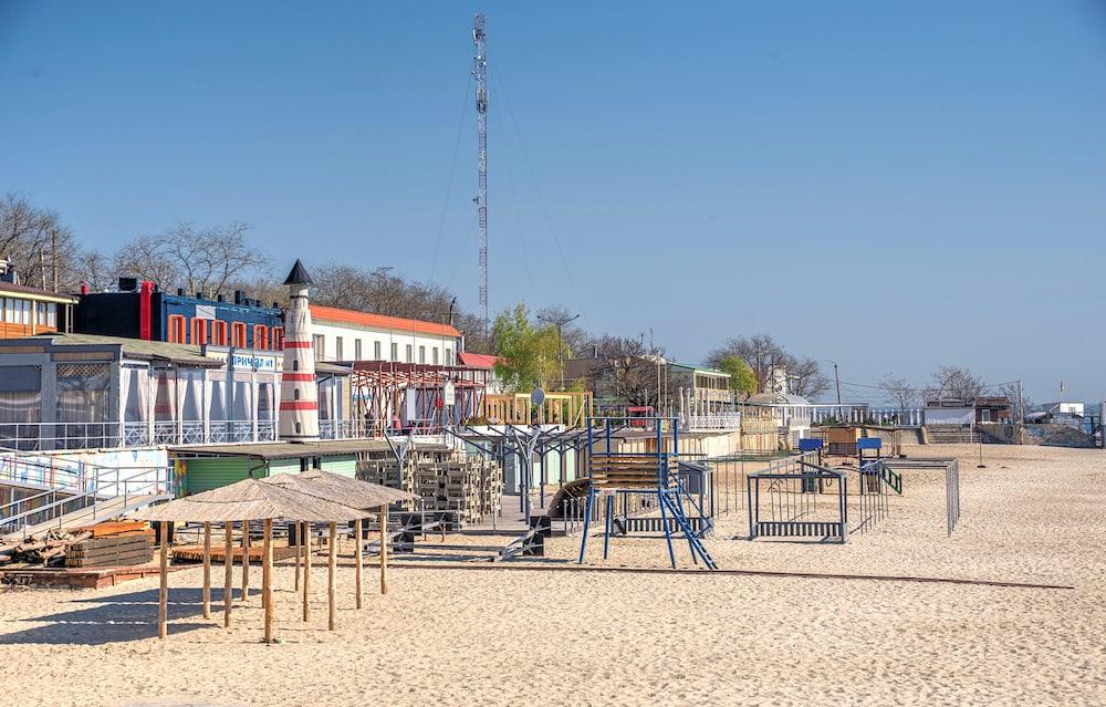 Odessa, Ukraine - Langeron city beach on a sunny spring morning.