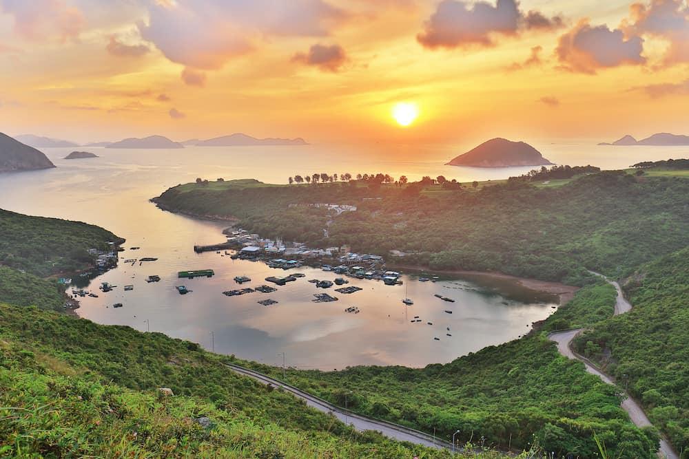 Sunrise a fish village Po Toi O Sai Kung Hong Kong