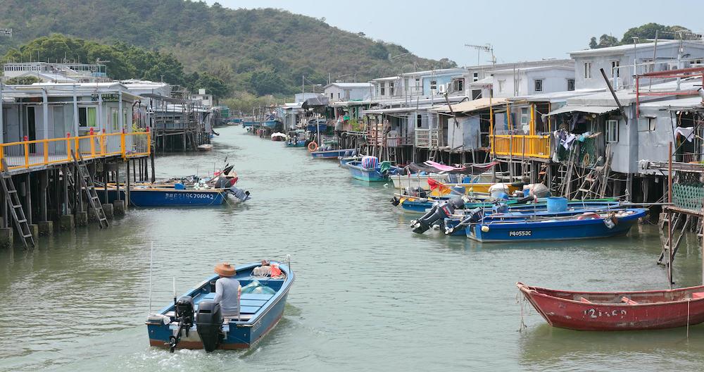 Tai O, Hong Kong. Hong Kong Tai O fishing village