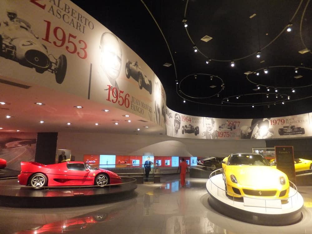 ABU DHABI, UAE - The interior of Ferrari World at Yas Island in Abu Dubai in the UAE on December 22, 2011. Ferrari World is the largest indoor amusement park in the world.