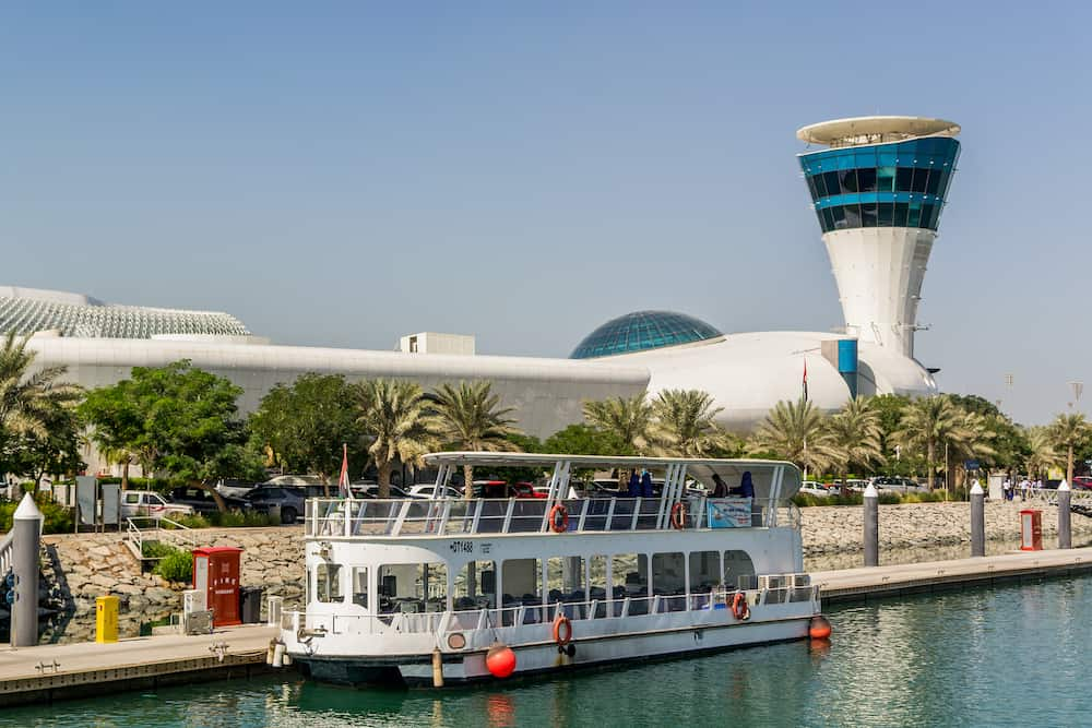 Abu Dhabi,UAE- Nov Yas Marina view in Yas Island Abu-Dhabi